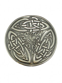 3 Celtic Dragons Ponytail Tie .925 Sterling Silver ST-12