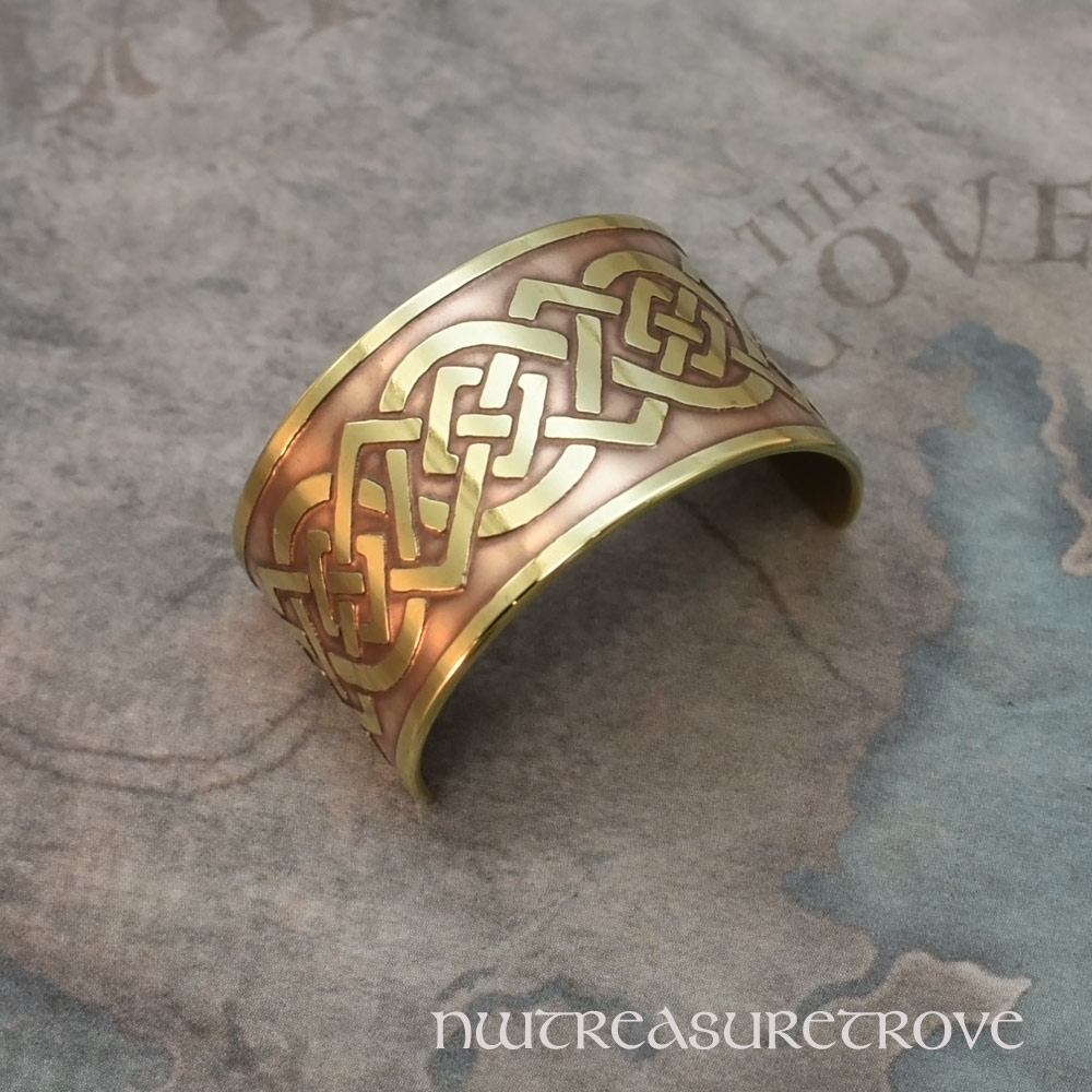 Celtic Knot Brass Ponytail Holder BC-52