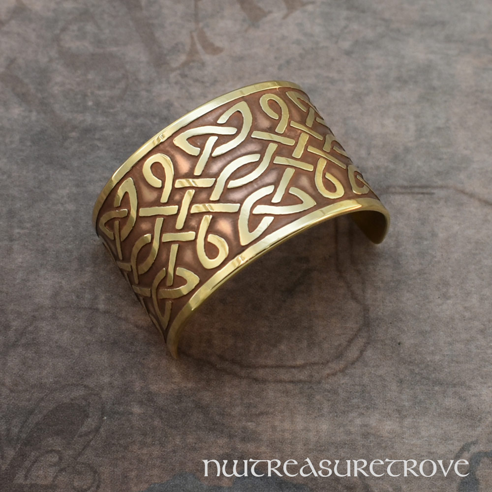 Celtic Knots Brass Ponytail Holder BC-55