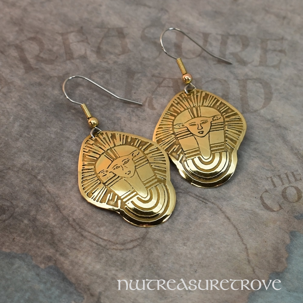 Egyptian Brass Earrings BE-145