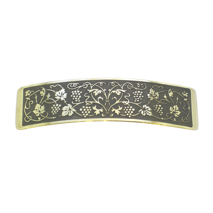 Grape Vines Brass Large Barrette BHC-9