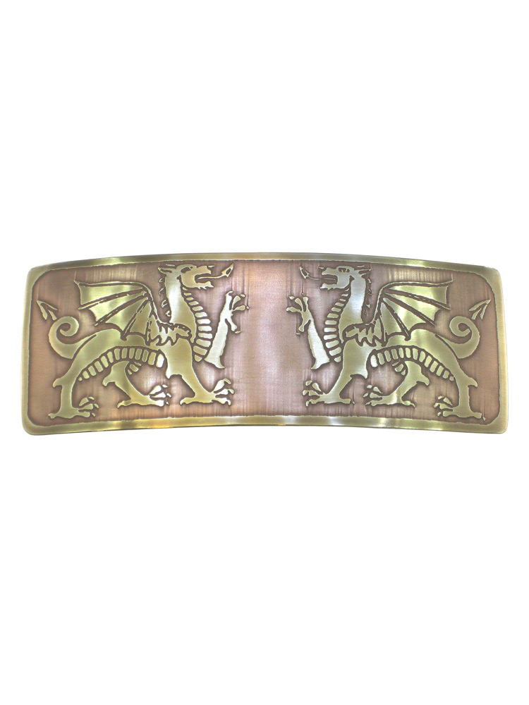 Welsh Dragons Brass Large Barrette BHC-126