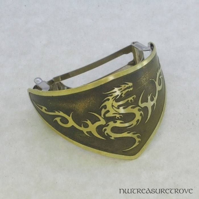 Tribal Serpent Brass Ponytail Clip BPC-10