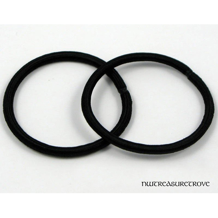 Black Round Elastic Hair Ties / Ponytail Ties