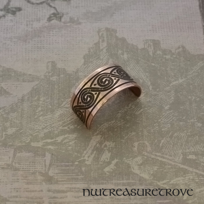 Celtic Swirl Copper Ponytail Holder CC-103