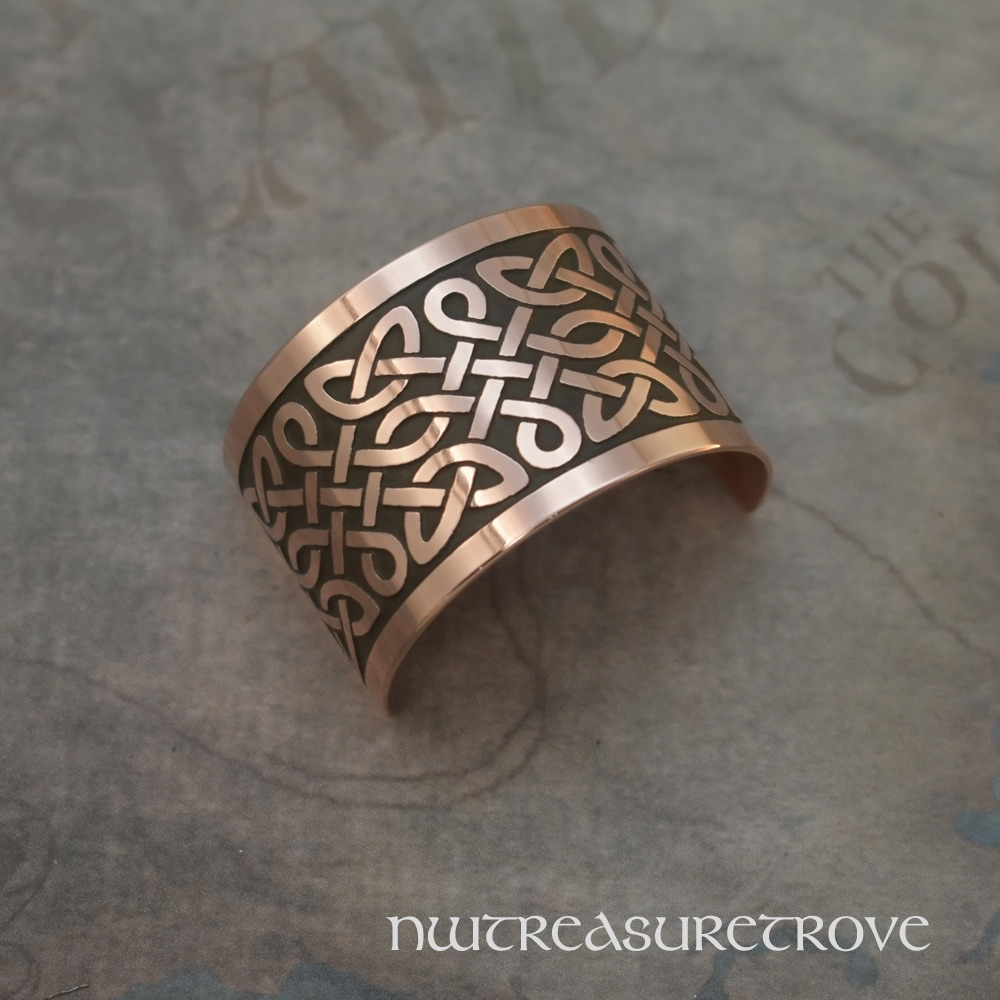 Celtic Knot #5 Copper Ponytail Holder