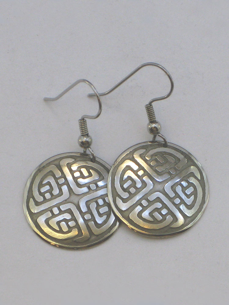 Celtic Knot Earrings Nickel Silver NE-2