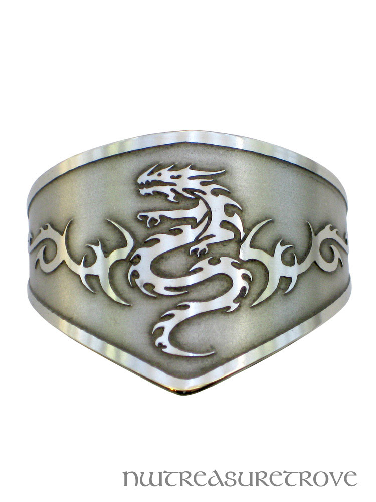 Tribal Serpent Nickel Silver Ponytail Holder NC-6