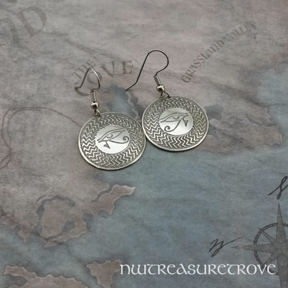 Eye of Horus Earrings Nickel Silver NE-12
