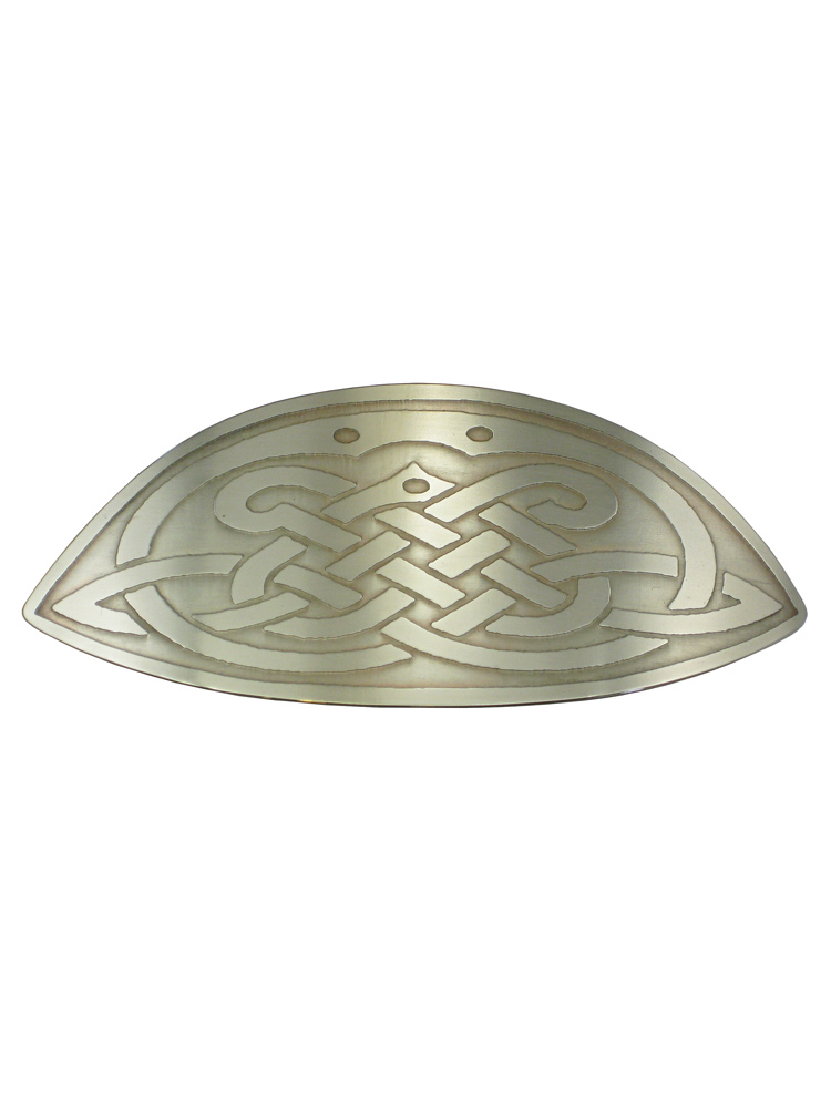 Oval Celtic Knot Large Nickel Silver Barrette NHC-22