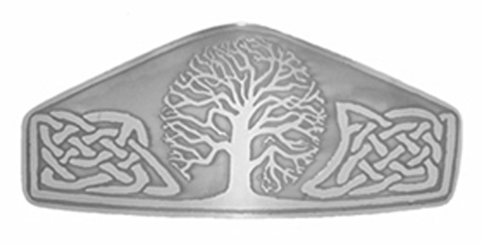 Celtic Tree of Life Large Nickel Silver Barrette NHC-2