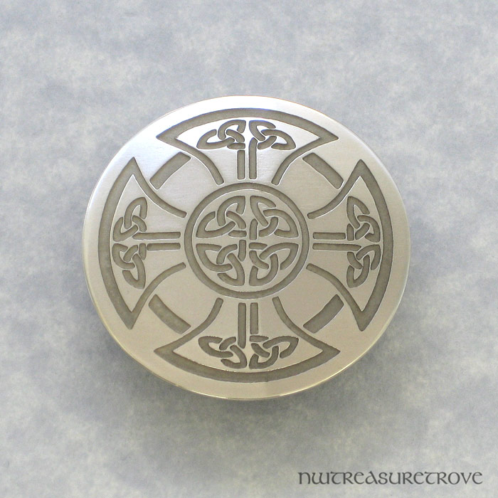 Celtic Cross - Nickel Silver Hair Tie NHT-76