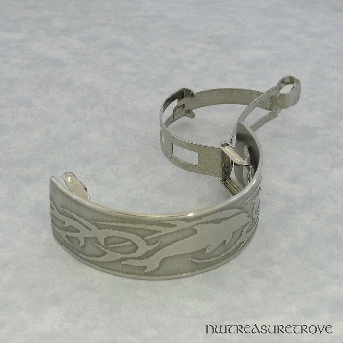 Tribal Dolphin Nickel Silver Ponytail Clip NPC-46