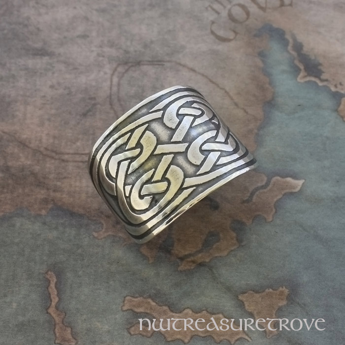 Celtic 4 Round Knots Sterling Silver Ponytail Holder SC-7