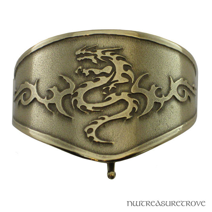 Tribal Serpent Bronze Ponytail Holder BRC-6
