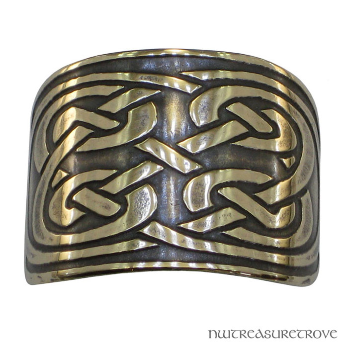 Celtic 4 Round Knots Bronze Ponytail Holder BRC-7