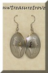 Dolphins Earrings Nickel Silver NE-131