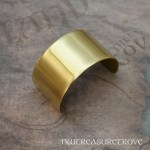 Brushed Metal Brass Ponytail Holder BC-111