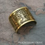 3 Trees of Life Brass Ponytail Holder BC-1
