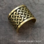 Celtic Knot Brass Ponytail Holder BC-221