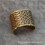 Celtic Knots Brass Ponytail Holder BC-255