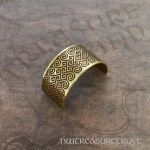 Celtic Knot Brass Ponytail Holder BC-50