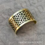 Celtic Knots Brass Ponytail Holder BC-5