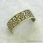 Celtic Knot Design Brass Ponytail Holder BC-63