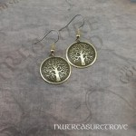 Celtic Tree of Life Brass Earrings BE-10