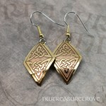 Celtic Triangle Brass Earrings BE-125