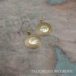 Eye of Horus Brass Brass Earrings BE-12
