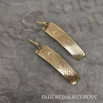 Long Celtic Mermaid Brass Earrings BE-133