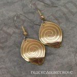 Spiral Serpent Earrings Brass BE-14