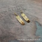 Celtic Mermaid Brass Earrings BE-30
