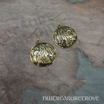 Zodiac Sign Virgo Brass Earrings BE-40