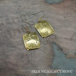 Zodiac Sign Leo Brass Earrings BE-42