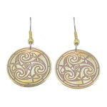 Celtic Triskele Brass Earrings BE-4