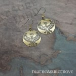 Egyptian Eagle Brass Earrings BE-52