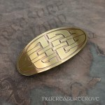 Celtic Knot Brass Large Barrette BHC-15