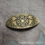 Native American Brass Large Barrette BHC-124