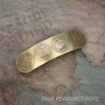 Medieval Mermaids Brass Large Barrette BHC-14
