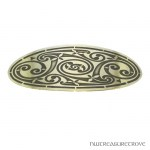 Celtic Wide Triskele Brass Large Barrette BHC-3