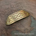 Celtic Knot Brass Large Barrette BHC-42