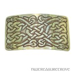 4 Celtic Dragons Brass Large Barrette BHC-51