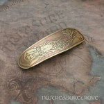 Mermaid Large Brass Barrette BHC-57