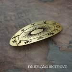 Astrology Brass Large Barrette BHC-71B
