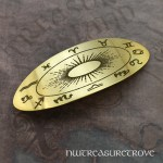Astrology Brass Large Barrette BHC-71