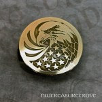 Eagle and Flag Brass Hair Tie BHT-103