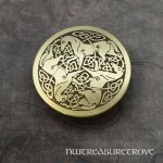 Art Nouveau Flowers Brass Ponytail Holder BC-14