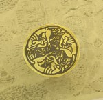 3 Celtic Dogs Brass Hair Tie BHT-33